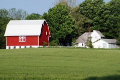 The Old Farm House and Barn Royalty Free Stock Image