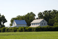 Old farm house and barn in indiana Stock Image