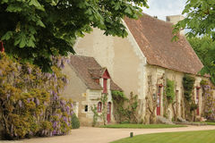 Old Farm house at the Chateau. Chenonceaux. France. A restored XVI th century farm at the Chenonceau palace and gardens. Chenonceaux. France Stock Photos