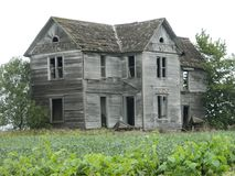 Old farm house in rural America travel vacation rustic Stock Image