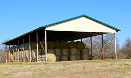 An Old Farm House Stores Hay Stock Photos