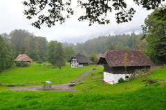 Old farm houses in Ballenberg, a Swiss open-air museum in Brienz Royalty Free Stock Image