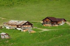 Old farm houses Stock Photo