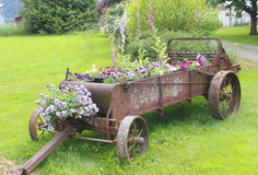 Old Farm Implement Planter Stock Images