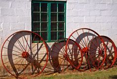 Old Farm Implement Wheels Stock Images