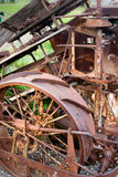 Old farm machinery. Rusting old vintage farm equipment Stock Images