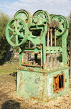 Old farm machinery. Used for pressing grapes in the manufacture of wine royalty free stock photos