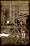Old farm machinery. A great image of old wooden farm machinery royalty free stock image