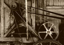 Old farm machinery. A great image of old wooden farm machinery royalty free stock photography