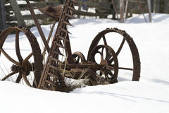 Old Farm Machines Royalty Free Stock Photos