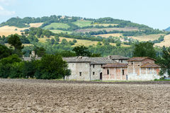 Old farm in Marches (Italy). Old farm near Camerino (Macerata, Marches, Italy) at summer Stock Photography