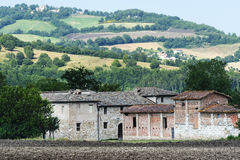 Old farm in Marches (Italy). Old farm near Camerino (Macerata, Marches, Italy) at summer Royalty Free Stock Images