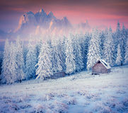 Old farm in the mountains. Royalty Free Stock Image