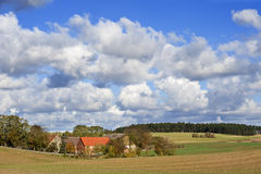 Old Farm In North Germany Stock Photo