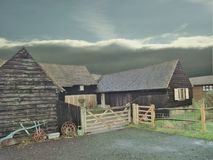 A bygone era life was the farm. Old farm out buildings when manual work and horses did everthing royalty free stock images