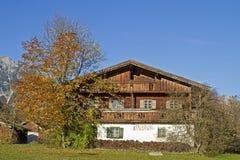 Old farm in pertisau Stock Photo