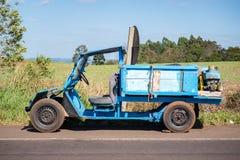 Free Old Farm Pickup Van, Homemade Car Royalty Free Stock Image - 163407116