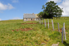 Old farm on the Plateau de l'Aubrac Royalty Free Stock Photo