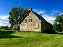Old farm in Quebec Canada Stock Photo