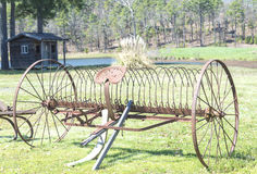 Old farm rake Royalty Free Stock Photo