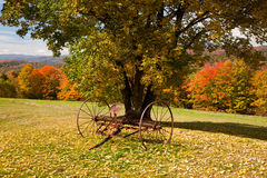 Old farm rake in Vermont Royalty Free Stock Photos
