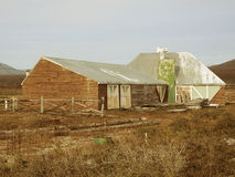 Old farm in ruins. Old farm in ruins in Tolhuin, Argentina Stock Image