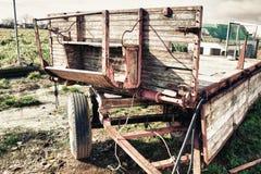 Old farm rusty trailer Royalty Free Stock Photos