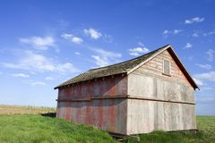 Old farm shed. Old farmers shed out in the field royalty free stock photos