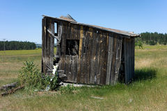 An old farm shed in idaho Royalty Free Stock Photo
