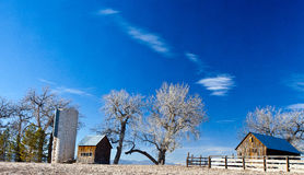Old farm and Silo in Colorado's prairie Royalty Free Stock Photo