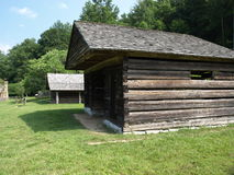 The old farm stead. Old North Carolina farm house in the mountains of western part of the state Stock Photos