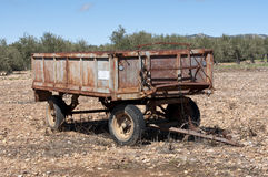 Old farm trailer Royalty Free Stock Photo