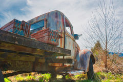 Old Farm Truck on a Dirt Road. Found in Ida Valley, New Zealand Royalty Free Stock Image