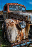 Old Farm Truck on a Dirt Road. Found in Ida Valley, New Zealand Royalty Free Stock Images