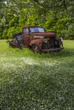 Old vintage farm truck Stock Photo