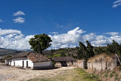 Old farm village in the Andean highlands Stock Photo