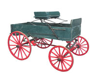 Old farm wagon buckboard isolated. Royalty Free Stock Photo