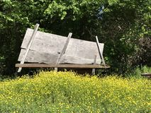 Old wagon hidden in nature royalty free stock photography