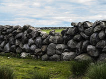 Old farm wall. An old farm wall in the mournes ireland Stock Image