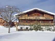 Old farm in winter in Tyrol Royalty Free Stock Photo