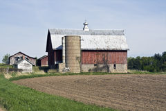 Old Farm in Wisconsin. Spring time royalty free stock photos