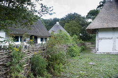 An old farm yard and houses royalty free stock photos