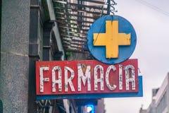 Farmacia sign, Uruguay