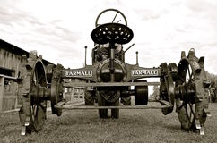 Old Farmall tractor at a threshing show(B & W) Stock Photos