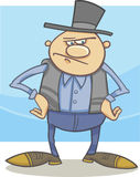 Old farmer cartoon illustration Royalty Free Stock Photography
