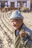 Old farmer on his field Stock Photos