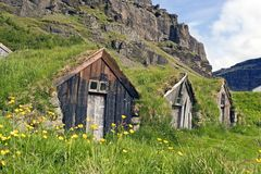 Old farmer houses Stock Image