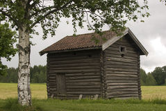 Old farmer's wooden house Gamle Hvam. Norway. Royalty Free Stock Photos