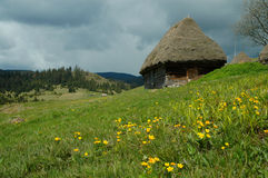 Old farmer\'s wooden house in Transylvania Royalty Free Stock Images