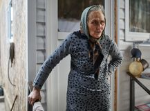 Senior farmer woman Royalty Free Stock Image